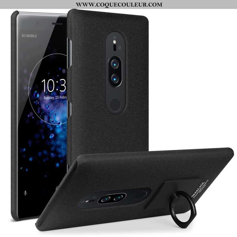 Coque Sony Xperia Xz2 Premium Délavé En Daim Téléphone Portable Noir, Housse Sony Xperia Xz2 Premium