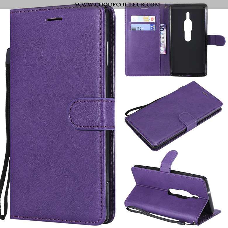 Housse Sony Xperia Xz2 Premium Cuir Étui Housse, Sony Xperia Xz2 Premium Silicone Incassable Violet