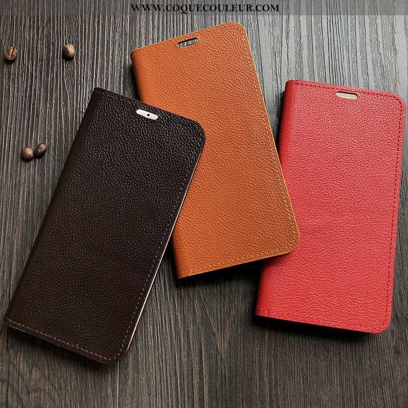 Étui Sony Xperia Xz2 Premium Cuir Véritable Rouge Coque, Coque Sony Xperia Xz2 Premium Housse Téléph