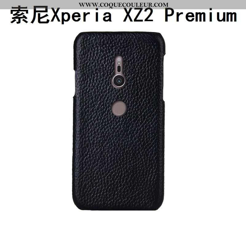 Coque Sony Xperia Xz2 Premium Cuir Incassable Protection, Housse Sony Xperia Xz2 Premium Mode Person