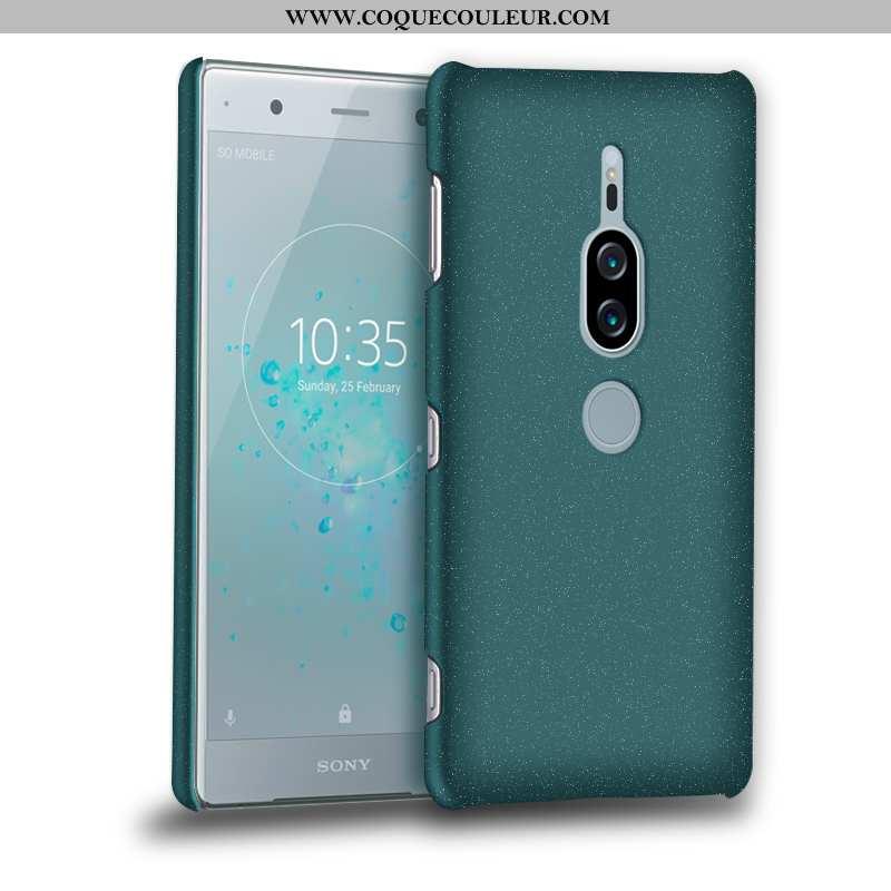 Housse Sony Xperia Xz2 Premium Délavé En Daim Vert Téléphone Portable, Étui Sony Xperia Xz2 Premium