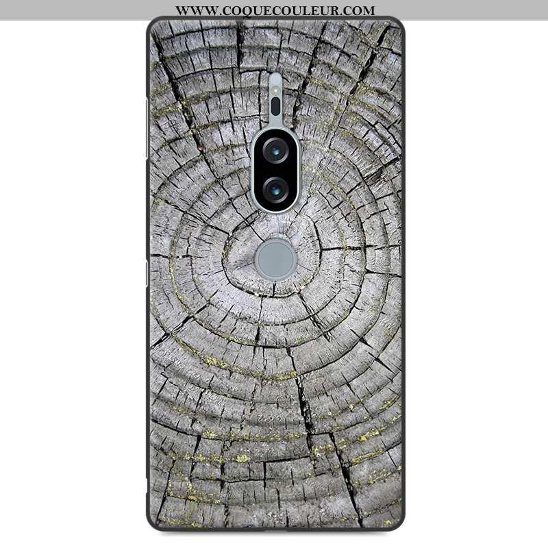 Coque Sony Xperia Xz2 Premium Silicone Gris Coque, Housse Sony Xperia Xz2 Premium Protection Personn