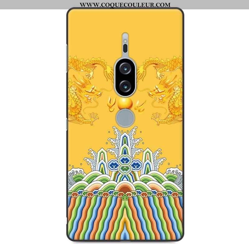 Coque Sony Xperia Xz2 Premium Protection Jaune Étui, Housse Sony Xperia Xz2 Premium Fluide Doux Télé