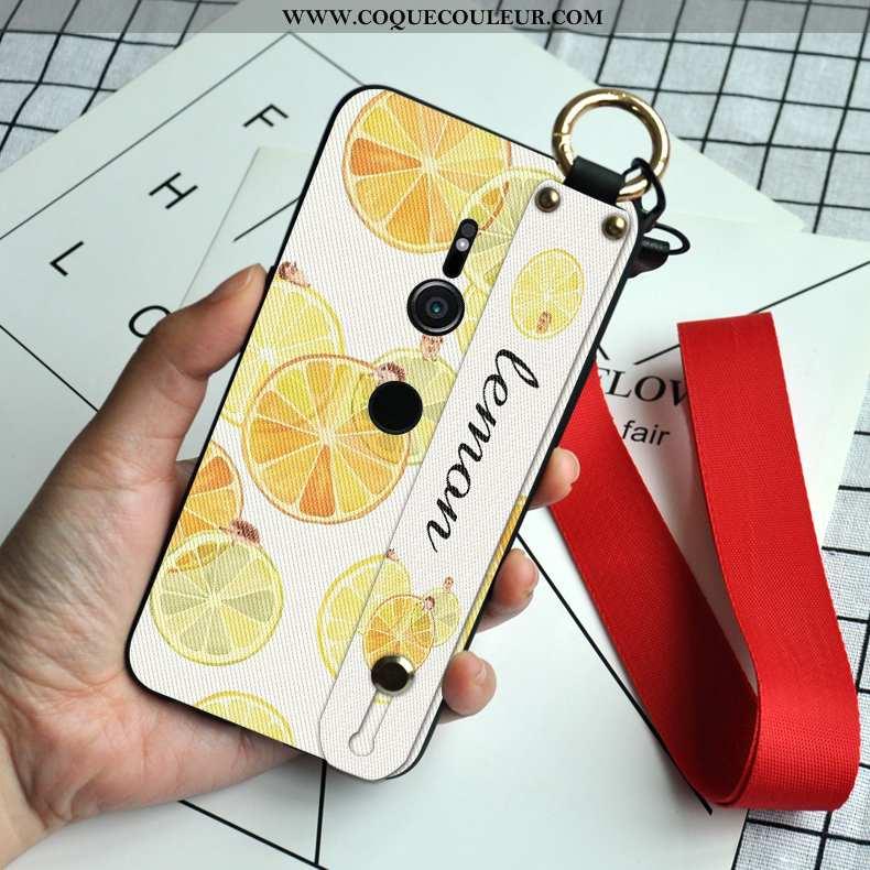 Housse Sony Xperia Xz2 Personnalité Nouveau Fruit, Étui Sony Xperia Xz2 Créatif Silicone Jaune