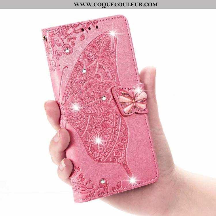 Housse Sony Xperia Xz2 Cuir Rose Étui, Étui Sony Xperia Xz2 Protection Tout Compris