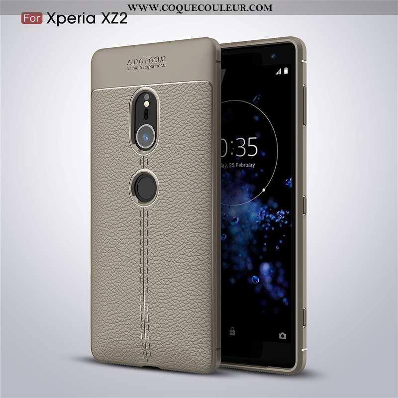 Housse Sony Xperia Xz2 Protection Téléphone Portable Incassable, Étui Sony Xperia Xz2 Fluide Doux Gr