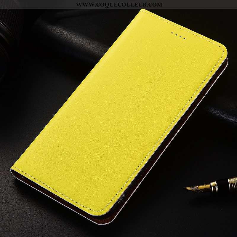 Étui Sony Xperia Xz2 Silicone Cuir Jaune, Coque Sony Xperia Xz2 Protection Incassable Jaune