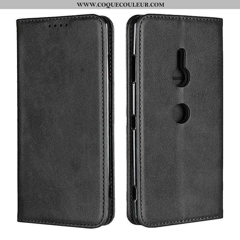 Housse Sony Xperia Xz2 Protection Noir Téléphone Portable, Étui Sony Xperia Xz2 Cuir