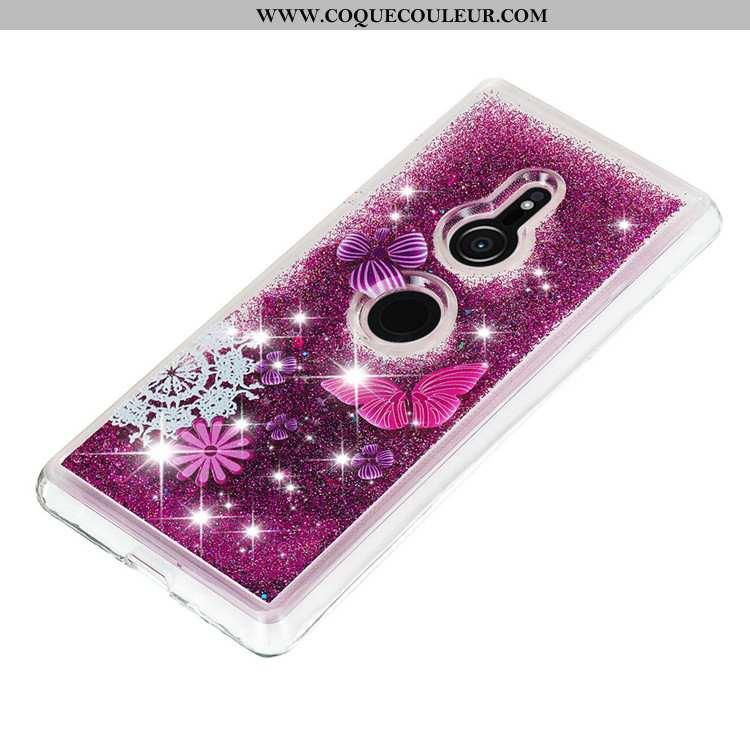 Housse Sony Xperia Xz3 Dessin Animé Violet Étui, Étui Sony Xperia Xz3 Créatif Coque