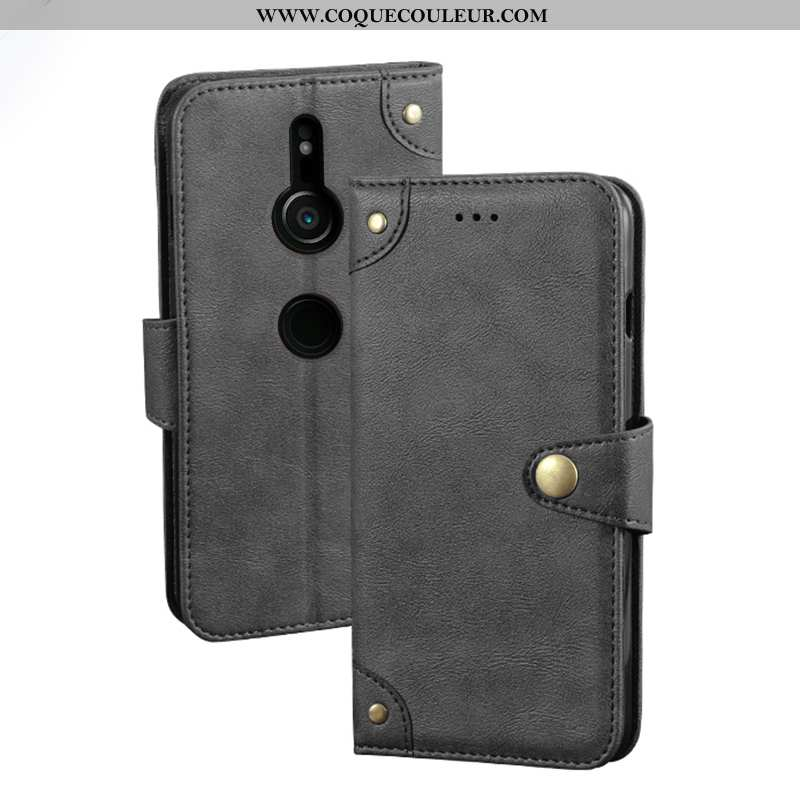 Coque Sony Xperia Xz3 Protection Carte, Housse Sony Xperia Xz3 Vintage Étui Noir