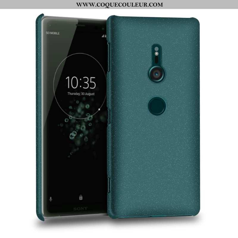 Étui Sony Xperia Xz3 Protection Téléphone Portable Vert, Coque Sony Xperia Xz3 Délavé En Daim Verte