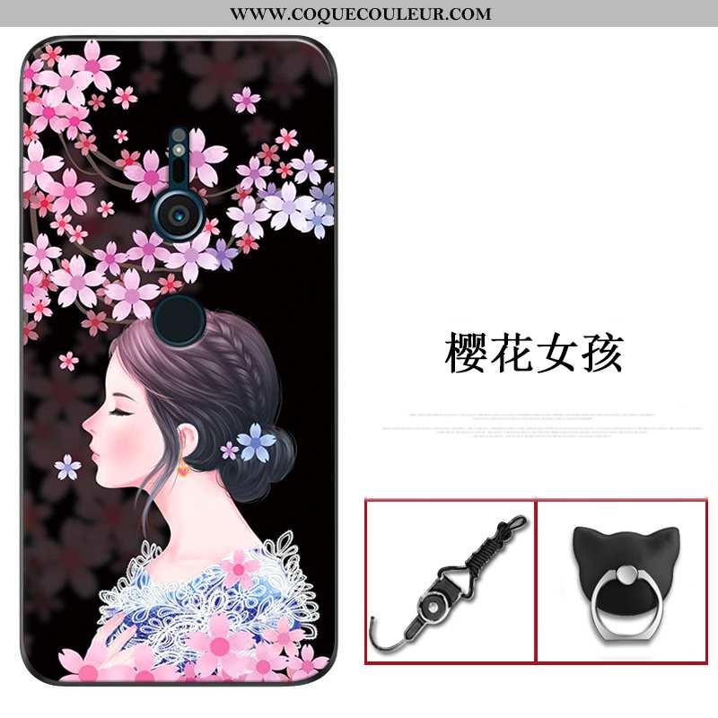 Housse Sony Xperia Xz3 Fluide Doux Téléphone Portable Légère, Étui Sony Xperia Xz3 Délavé En Daim In