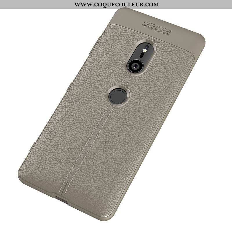 Coque Sony Xperia Xz3 Silicone Étui Gris, Housse Sony Xperia Xz3 Protection Fluide Doux Gris