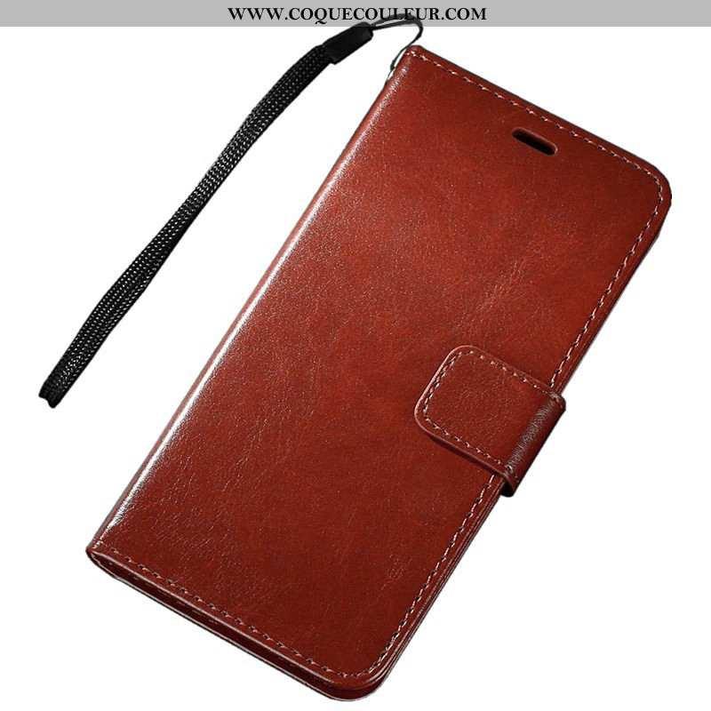 Étui Sony Xperia Xz3 Protection Coque Carte, Sony Xperia Xz3 Portefeuille Marron