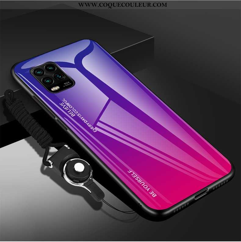 Coque Xiaomi Mi 10 Lite Verre Téléphone Portable Dégradé, Housse Xiaomi Mi 10 Lite Créatif Jeunesse