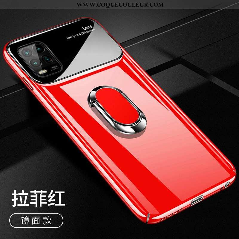 Housse Xiaomi Mi 10 Lite Verre Ultra Étui, Étui Xiaomi Mi 10 Lite Personnalité Miroir Rouge