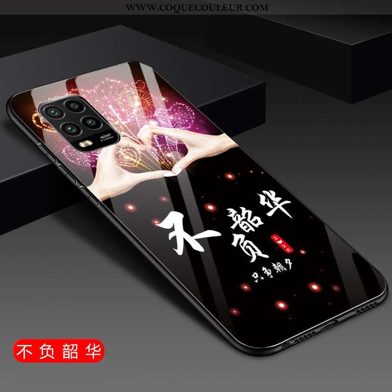 Étui Xiaomi Mi 10 Lite Fluide Doux Difficile Téléphone Portable, Coque Xiaomi Mi 10 Lite Silicone Or