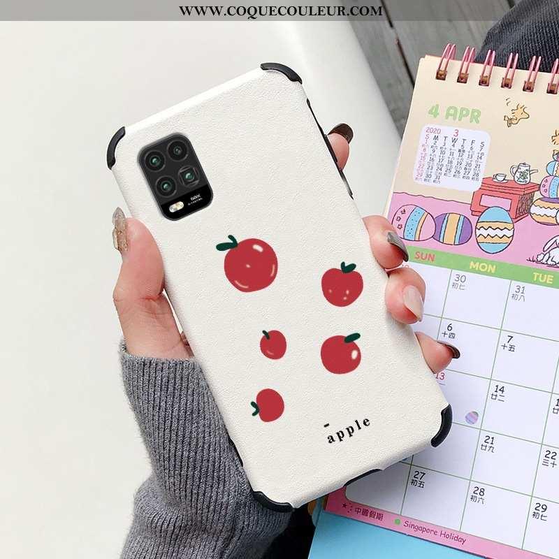 Étui Xiaomi Mi 10 Lite Mode Petit Net Rouge, Coque Xiaomi Mi 10 Lite Protection Créatif Rouge