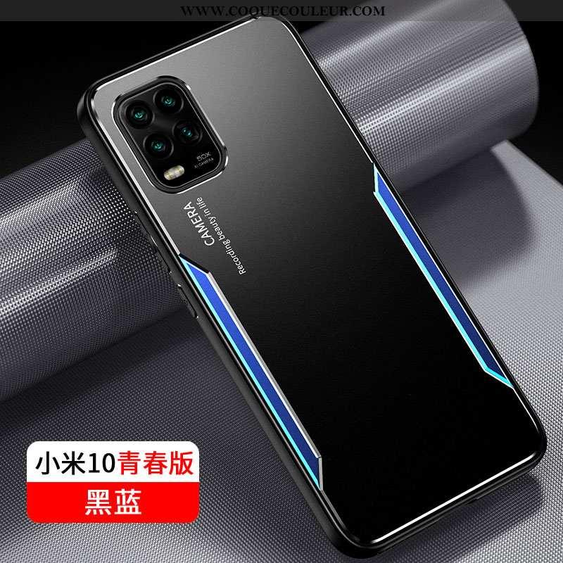 Housse Xiaomi Mi 10 Lite Silicone Noir Jeunesse, Étui Xiaomi Mi 10 Lite Protection Tout Compris