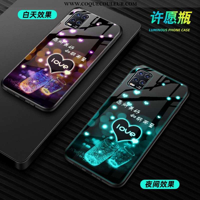 Housse Xiaomi Mi 10 Lite Protection Petit Incassable, Étui Xiaomi Mi 10 Lite Verre Personnalité Vert