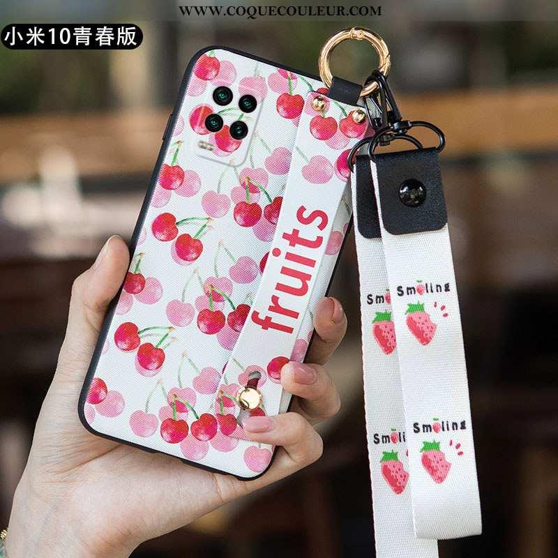 Housse Xiaomi Mi 10 Lite Créatif Art Tendance, Étui Xiaomi Mi 10 Lite Ultra Incassable Rose