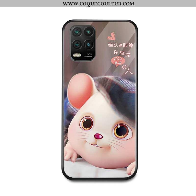 Coque Xiaomi Mi 10 Lite Personnalité Net Rouge Jeunesse, Housse Xiaomi Mi 10 Lite Créatif Miroir Mar