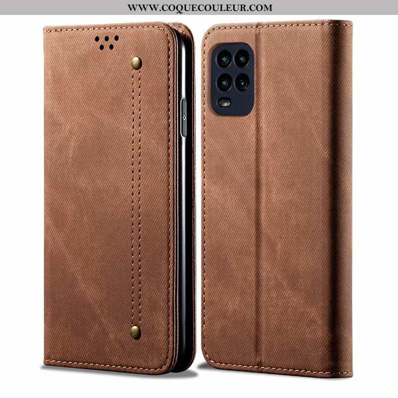 Housse Xiaomi Mi 10 Lite Protection Jeunesse Tout Compris, Étui Xiaomi Mi 10 Lite Cuir Marron