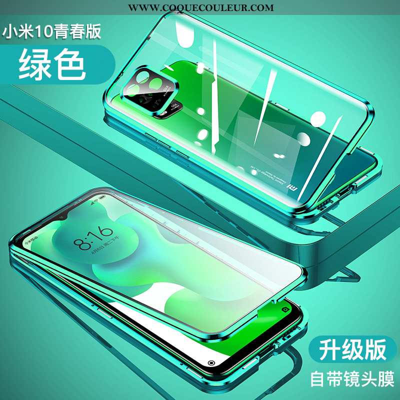 Housse Xiaomi Mi 10 Lite Transparent Net Rouge Incassable, Étui Xiaomi Mi 10 Lite Ultra Reversible V