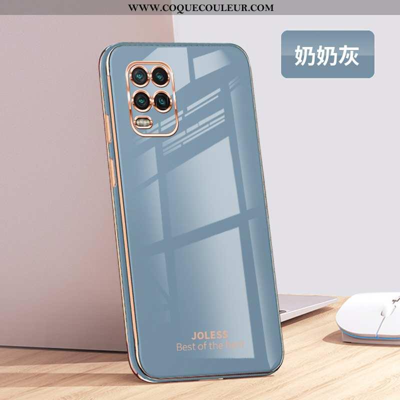Coque Xiaomi Mi 10 Lite Ultra Fluide Doux Créatif, Housse Xiaomi Mi 10 Lite Tendance Mode Gris