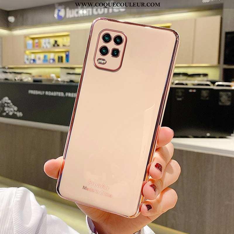 Coque Xiaomi Mi 10 Lite Ultra Silicone Protection, Housse Xiaomi Mi 10 Lite Légère Rose