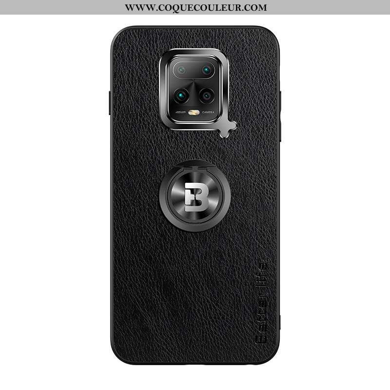 Housse Xiaomi Mi 10 Lite Fluide Doux Noir Difficile, Étui Xiaomi Mi 10 Lite Silicone Tout Compris