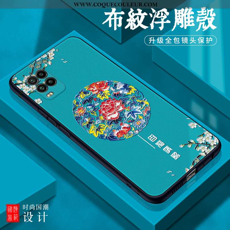 Étui Xiaomi Mi 10 Lite Silicone Tout Compris Coque, Coque Xiaomi Mi 10 Lite Protection Petit Bleu