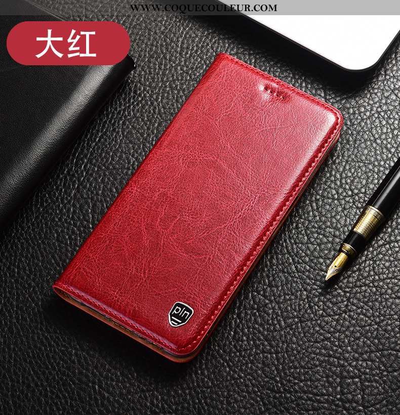 Housse Xiaomi Mi 10 Lite Modèle Fleurie Petit Coque, Étui Xiaomi Mi 10 Lite Protection Cuir Véritabl