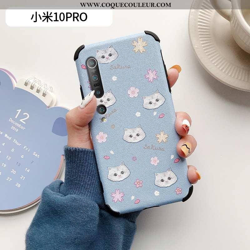 Housse Xiaomi Mi 10 Pro Modèle Fleurie Téléphone Portable Silicone, Étui Xiaomi Mi 10 Pro Fluide Dou
