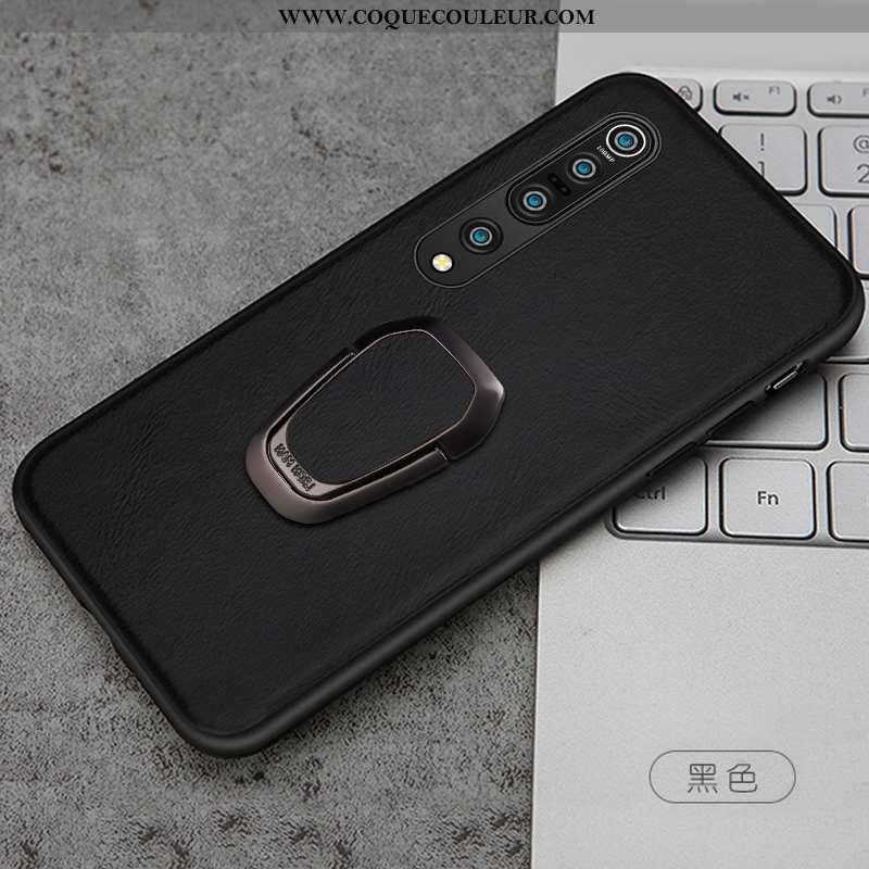 Étui Xiaomi Mi 10 Pro Légère Magnétisme Téléphone Portable, Coque Xiaomi Mi 10 Pro Cuir Ultra Noir