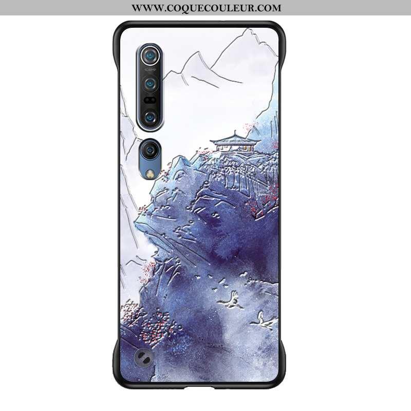 Housse Xiaomi Mi 10 Pro Personnalité Fluide Doux Border, Étui Xiaomi Mi 10 Pro Créatif Bleu