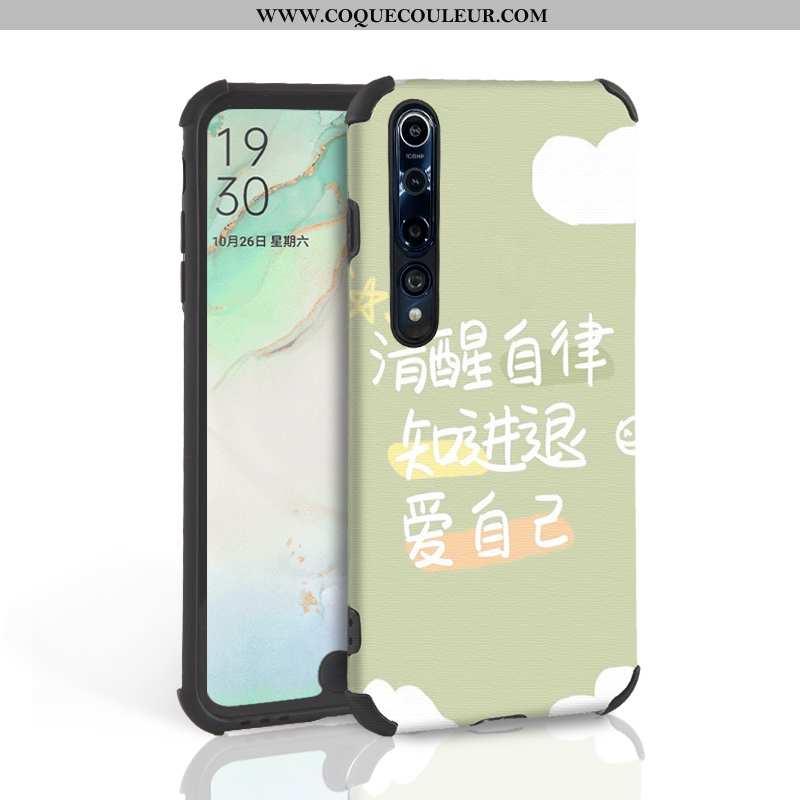Housse Xiaomi Mi 10 Pro Créatif Légère Tendance, Étui Xiaomi Mi 10 Pro Ultra Verte