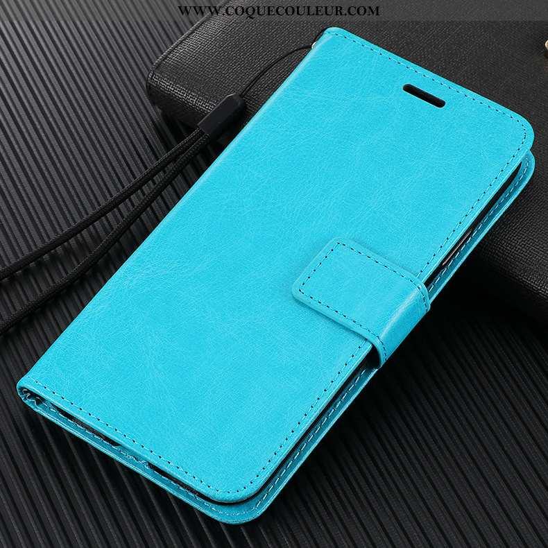 Coque Xiaomi Mi 10 Pro Fluide Doux Cuir Étui, Housse Xiaomi Mi 10 Pro Silicone Tout Compris Bleu