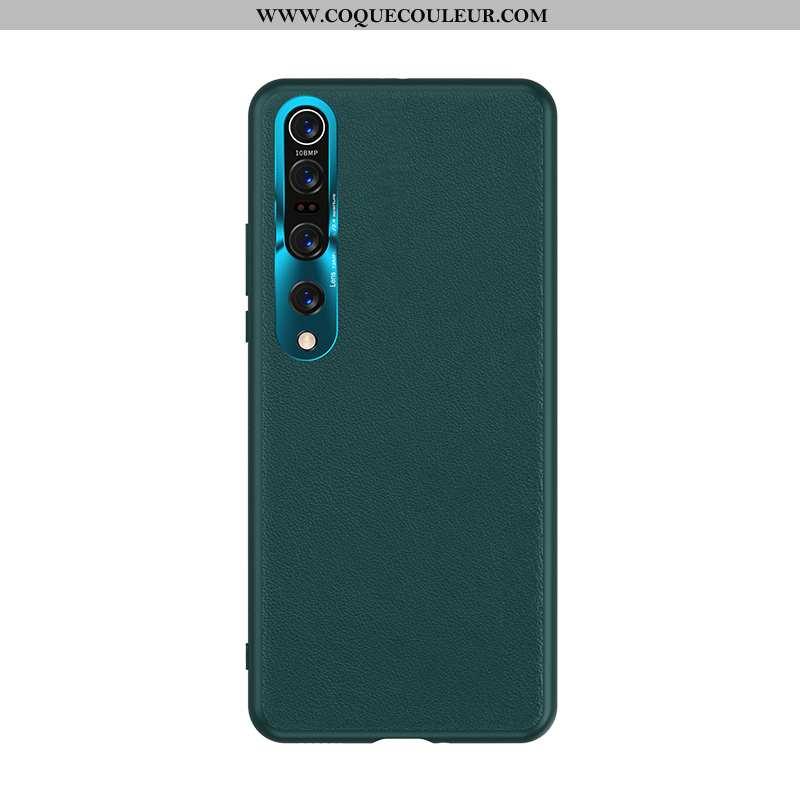 Coque Xiaomi Mi 10 Pro Tendance Luxe Cuir, Housse Xiaomi Mi 10 Pro Légère Ultra Verte