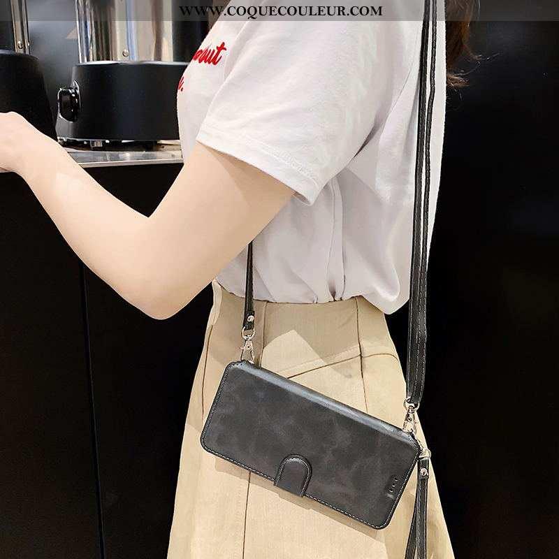Housse Xiaomi Mi 10 Pro Portefeuille Étui Téléphone Portable, Xiaomi Mi 10 Pro Cuir Simple Noir