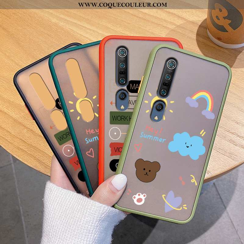 Housse Xiaomi Mi 10 Pro Personnalité Jeunesse Vert, Étui Xiaomi Mi 10 Pro Créatif Arc En Ciel Verte
