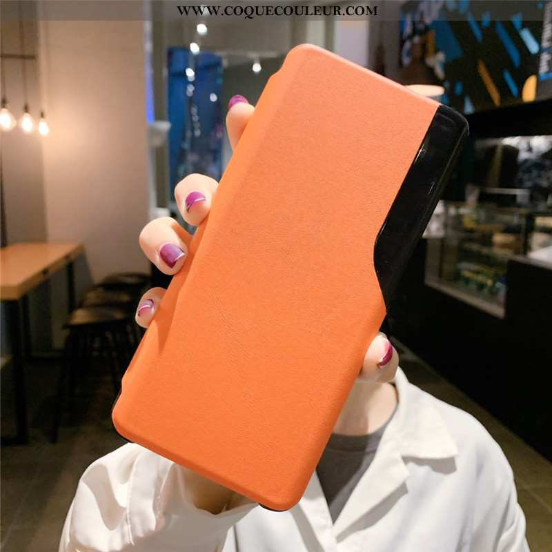 Housse Xiaomi Mi 10 Pro Protection Coque Tendance, Étui Xiaomi Mi 10 Pro Cuir Véritable Clamshell Or