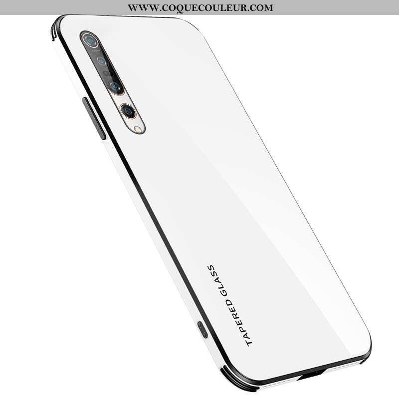 Étui Xiaomi Mi 10 Pro Tendance Tout Compris Silicone, Coque Xiaomi Mi 10 Pro Légère Simple Blanche