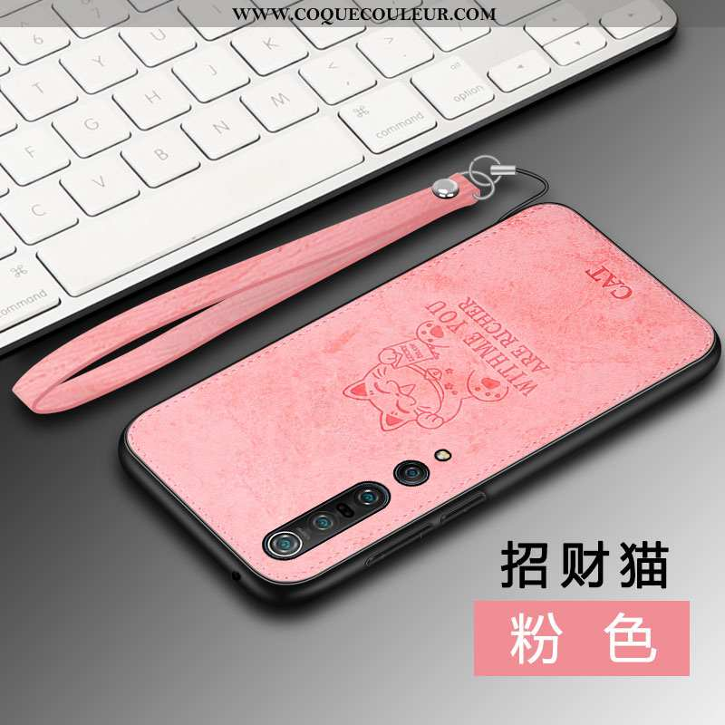 Coque Xiaomi Mi 10 Pro Silicone Incassable Luxe, Housse Xiaomi Mi 10 Pro Protection Nouveau Rose