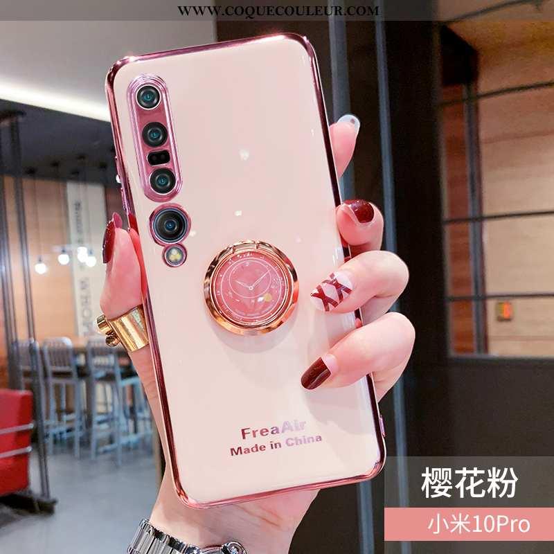 Étui Xiaomi Mi 10 Pro Créatif Net Rouge, Coque Xiaomi Mi 10 Pro Tendance Anneau Rose