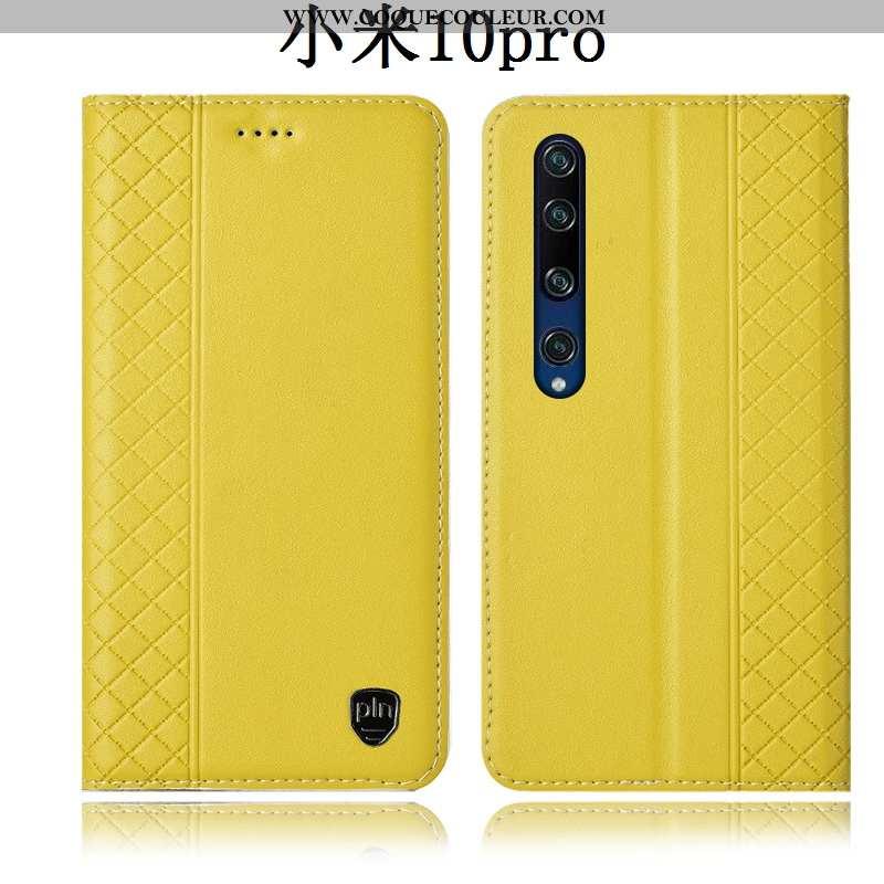 Étui Xiaomi Mi 10 Pro Cuir Véritable Tout Compris Incassable, Coque Xiaomi Mi 10 Pro Protection Peti