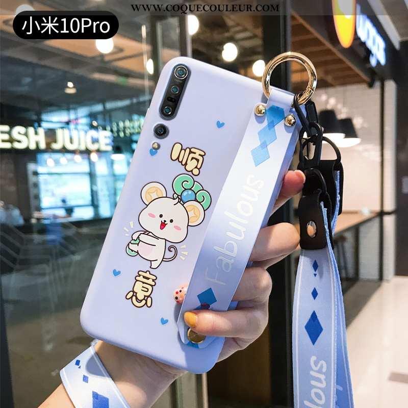 Étui Xiaomi Mi 10 Pro Charmant Légère Incassable, Coque Xiaomi Mi 10 Pro Ultra Protection Bleu