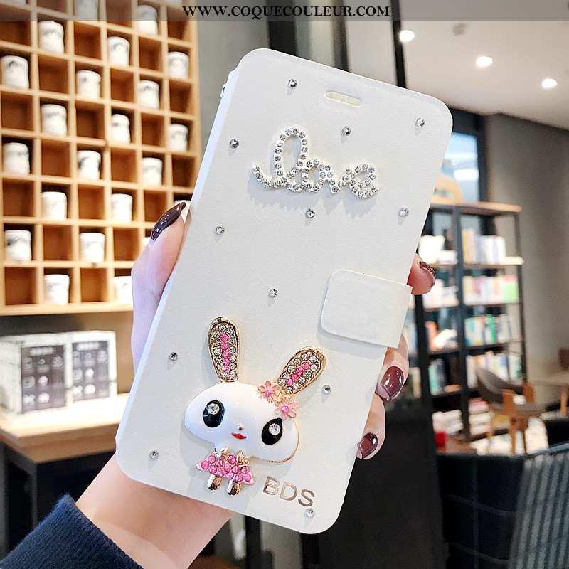 Étui Xiaomi Mi 10 Créatif Petit Clamshell, Coque Xiaomi Mi 10 Dessin Animé Blanche