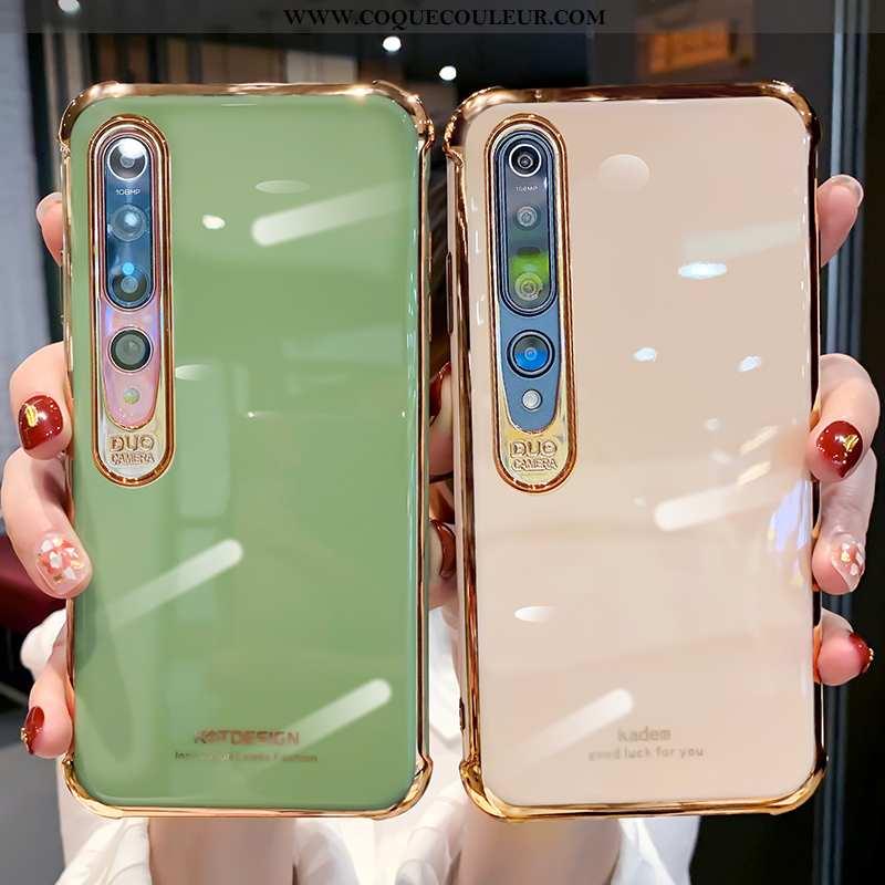 Coque Xiaomi Mi 10 Fluide Doux Vent Ultra, Housse Xiaomi Mi 10 Silicone Incassable Verte