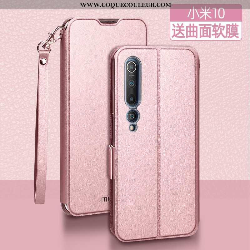 Étui Xiaomi Mi 10 Tendance Jeunesse Téléphone Portable, Coque Xiaomi Mi 10 Légère Incassable Rose